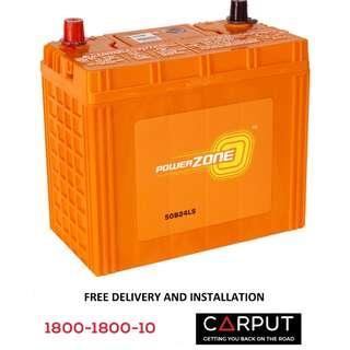 NS60L Car battery Powerzone for HONDA (Civic, Accord), Toyota Vios Bateri Kereta FREE Delivery > Installation for Klang Valley