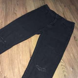 RUSH Black Skinny Ripped Jeans Size 26-28