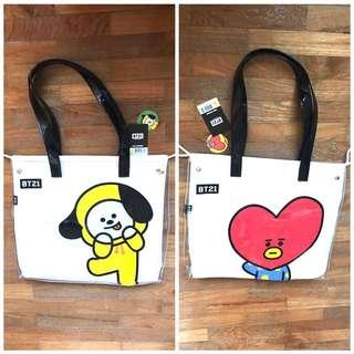 <INSTOCK> BT21 Removable Canvas Jelly Tote Bag (Kumhong/Studio Eight Collab)
