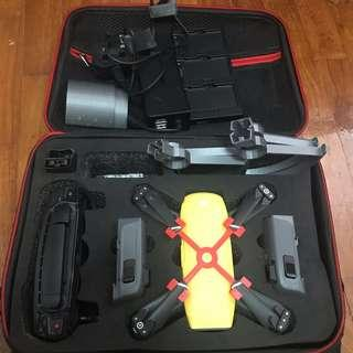 DJI Spark fly combo with bag and lots of accessories