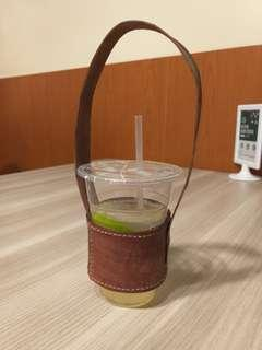 🚚 手工縫皮革環保杯袋