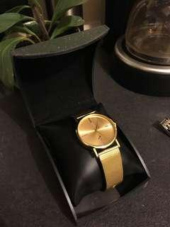 Gold fashion watch (like DW)