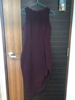 Maroon Hidden Lacey Dress