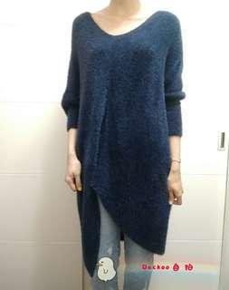 🚚 多穿式海毛長版上衣(深藍