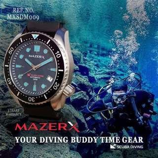 🚚 MAZERX SCUBA DIVING AUTOMATIC SCUBA DIVER 300M REF. NO. MXSDM009