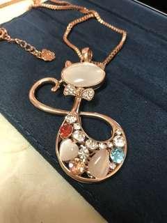 Rose gold 貓貓長頸鍊
