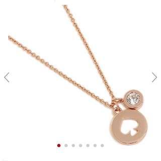 Kate Spade Rose Gold Necklace 玫瑰金頸鏈