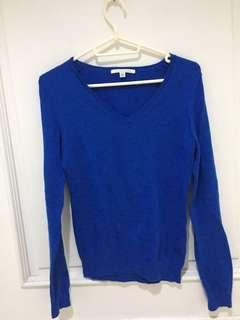 Blue Knitted pull-over