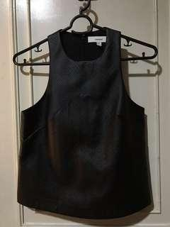 Authentic C/meo Collective (Cameo) Black Leather Top