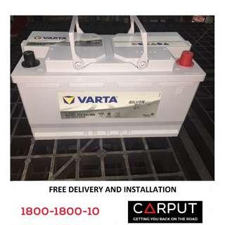 DIN95L Car battery VARTA AGM for Volvo XC90/S80, Audi Q5/Q7/Q9, BMW 3/4/5/6/7/8 (with Auto Engine Start/Stop), FREE Delivery > Installation for Klang Valley