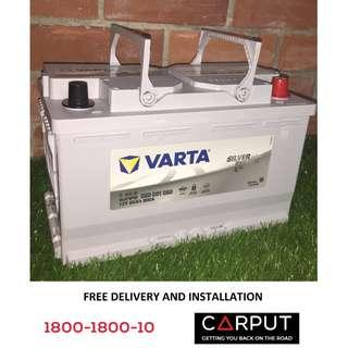DIN80L Car battery VARTA AGM for Mercedes Benz W203/204, Audi A4, FREE Delivery > Installation for Klang Valley