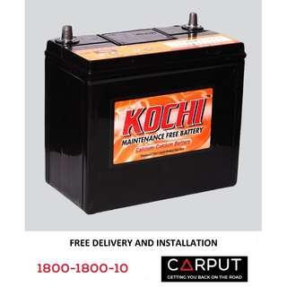 NS60 Car battery Kochi for PROTON Saga,Wira, Iriz. Bateri Kereta FREE Delivery > Installation for Klang Valley