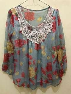 Floral berry blouse