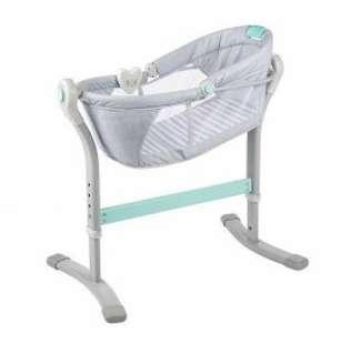 By Your Side Sleeper Bassinet - Grey & Teal