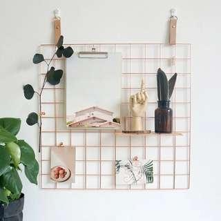 Photo Display Grid Wall