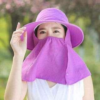 Hat with Face Cover