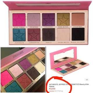 Auth💯Jeffree Star Beauty Killer Famous Eyesahdow line( Retails at 3,000)