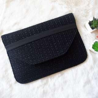 B. Manila Black tweed laptop sleeve 12-13 inch