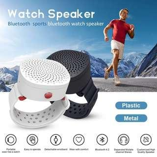 Wireless Bluetooth 4.2 Wristband Speaker Support MP3,WMA,WAV Built-in Microphone Motion Outdoor Audio Sports Wristband Sound