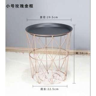 (BN) Nordic Metal Coffee Table - Rose Gold
