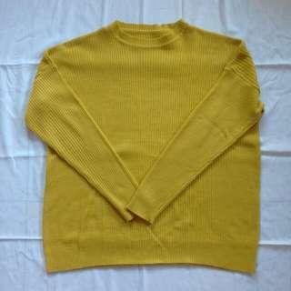 Boxy Sweater Mustard