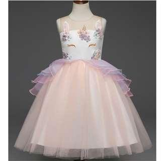 (Pre-order) Unicorn Princess Dress (3 Colours) #612