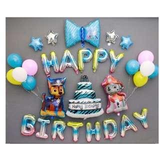 🚚 (In Stock)Paw Patrol Theme Birthday Party Decoration Set