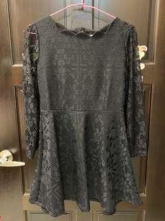 🚚 黑色蕾絲洋裝 全新