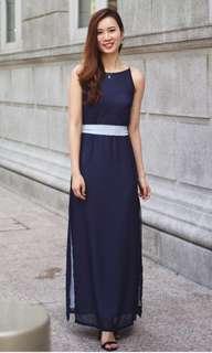 🚚 Lace & Ebony Ashlie Colour Contrast Maxi Dress (S)