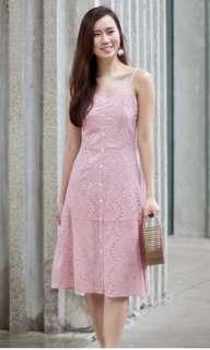 🚚 Lace & Ebony Avery Eyelet Dress (S)