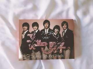 RARE Autographed/Signed Boys Over Flowers OST (Signed by Lee Min Ho, Kim Hyun Joong, Kim Bum and Kim Joon)