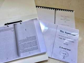 NTU HL3007 Post-Colonial Literature: Soy Sauce for beginners, Footsteps & The Pretenders