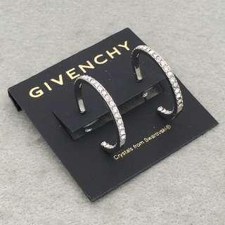 Givenchy Sample Earrings 銀色圈圈閃石耳環 EA317