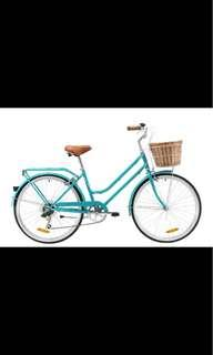 Blue Vintage Bicycle with basket