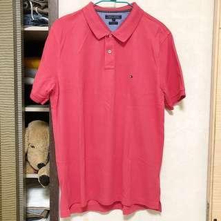 🚚 9.9成新 TOMMY HILFIGER 粉紅 短袖 polo衫 古著