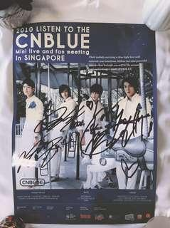 RARE Autographed/Signed CNBlue Official Poster