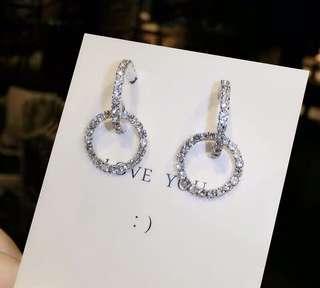 🚚 轉售全新 韓國鑽耳環