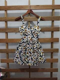 Flower bustier dress