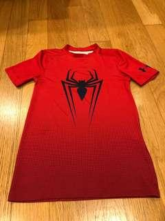 🚚 Under Armour Boys' SpiderMan Suit Short-Sleeve Shirt