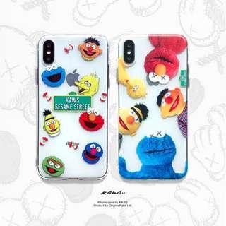 [PO] kaws x sesame street transparent iphone case