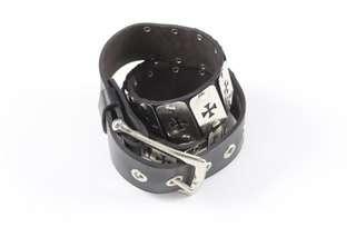 Vintage Goth Grunge Leather Belt