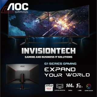 "AOC G1-Series 31.5"" Curved Gaming Monitor w' 144hz, 1ms & FreeSync"