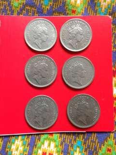 Queen Elizabeth dollar coin-1987,88,89,90,91,92