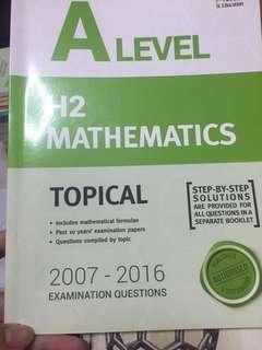 A Level H2 Math Topical TYS