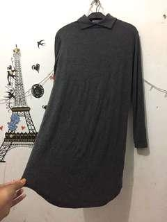 Tunik stretch abu2 import2