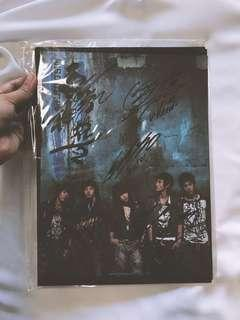 RARE Autographed/Signed DBSK/TVXQ Rising Sun A4 Promotional Card