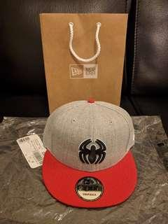 Marvel Spiderman Be Heather Action Gray/Red 9FIFTY New Era Snapback Hat Cap