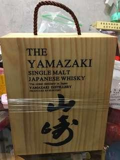 威士忌木禮盒山崎酒杯山崎12