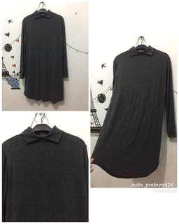 Tunik import stretch abu2