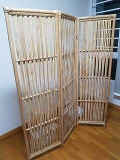 Rattan Privacy Partition / Room Divider